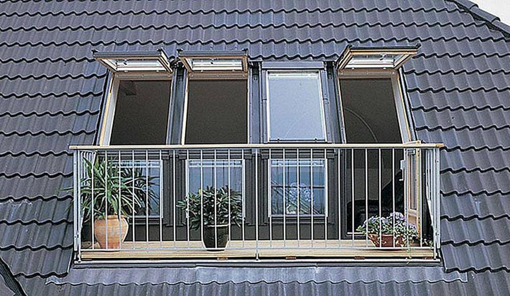 Strešna okna, frčade, svetlobniki in balkoni